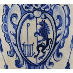 Jarro de Pico de Talavera con escudo de El Escorial siglo XVIII